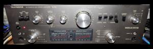 Wzmacniacz Telefunken TA750 w elementach odpowiadających za obróbkę dźwięku brak układów scalonych.