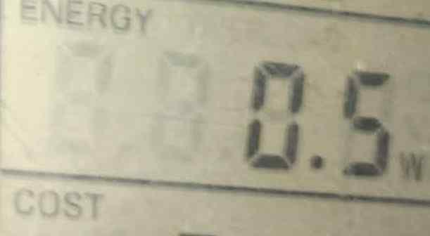 Kuchenka indukcyjna  pomiar mocy czynnej. W st.by.